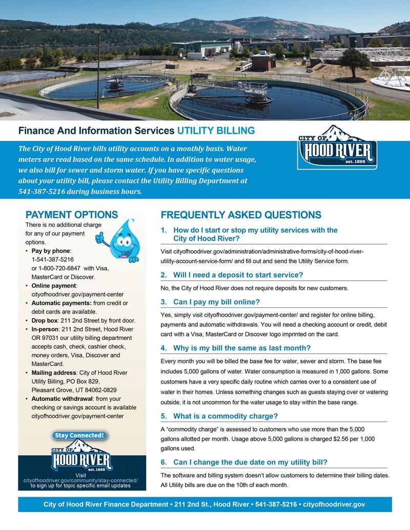 Utility Billing Information Flyer