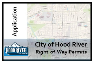 City of Hood River Right of Way Permit Map