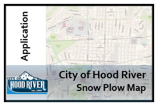 City of Hood River Snow Plow Map