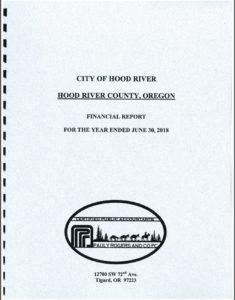 City of Hood River 2017-18 Audit