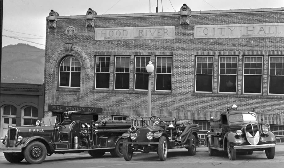 First Hood River Fire Station in the Basement of City Hall