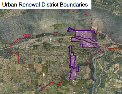 City of Hood River Urban Renewal Districts