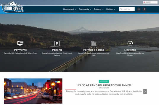 City of Hood River New Website
