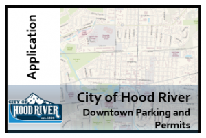 City of Hood River Downtown Parking and Permit Map