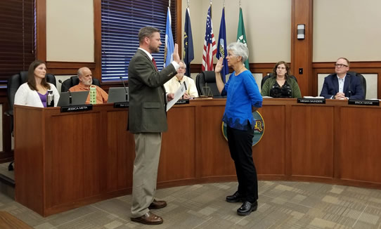 Kate McBride Sworn in as Hood River Mayor