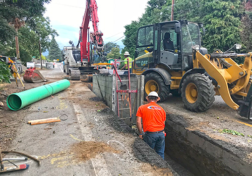 Storm-water system extension on Belmont