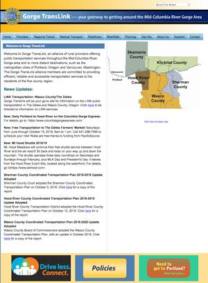 Gorge TransLink website