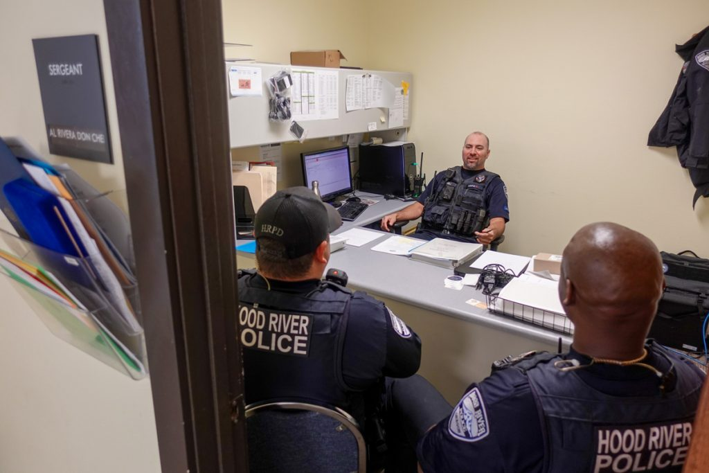 One small office serves 3 police officers