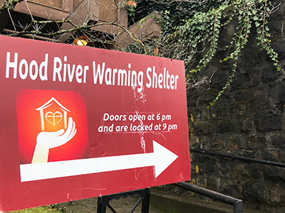 Hood River's warming shelter at Riverside Church provides overnight stays, meals and other essential services to the homeless during cold winter months.