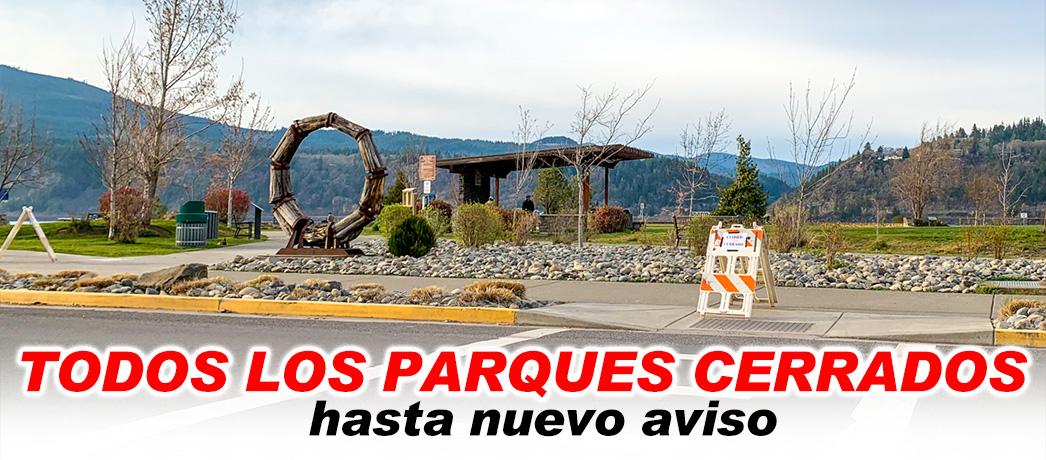 Los parques de la ciudad estarán cerrados