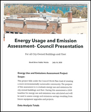 Energy Use and Emissions Assessment Project Scope: