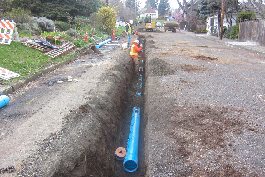 Water line and sewer pipe projects