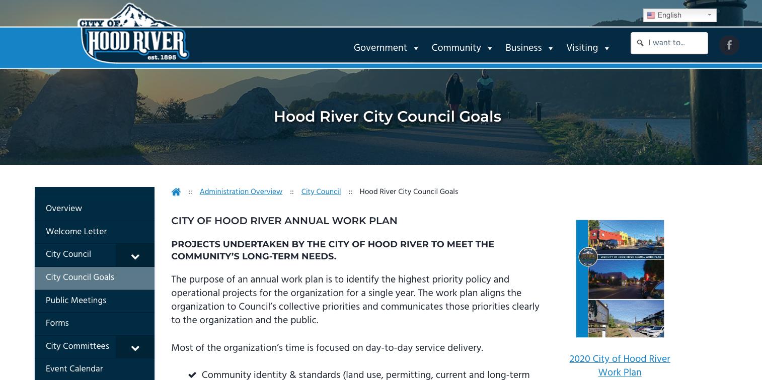 Council seeks input on 2021 goals & work plan