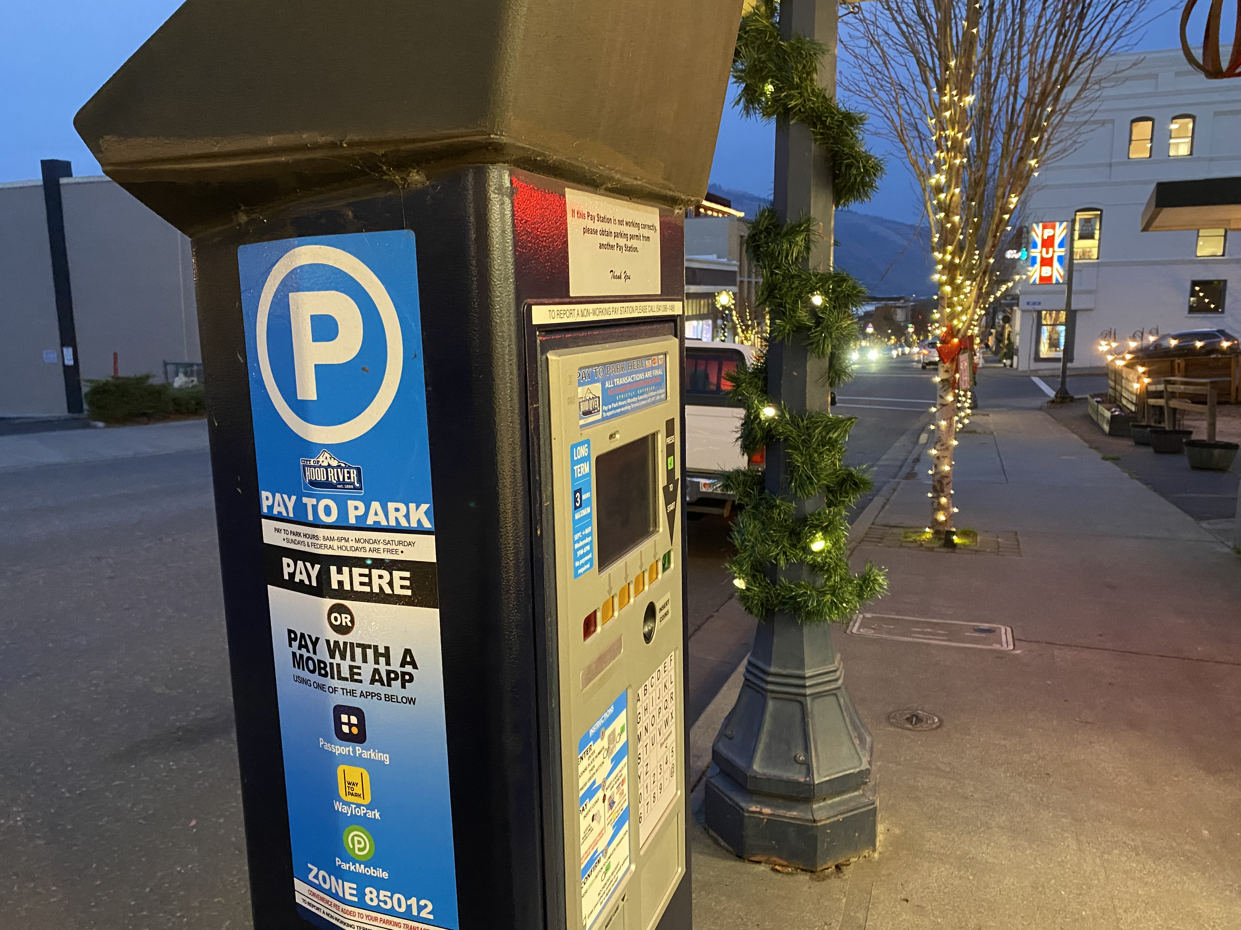 holiday parking downtown