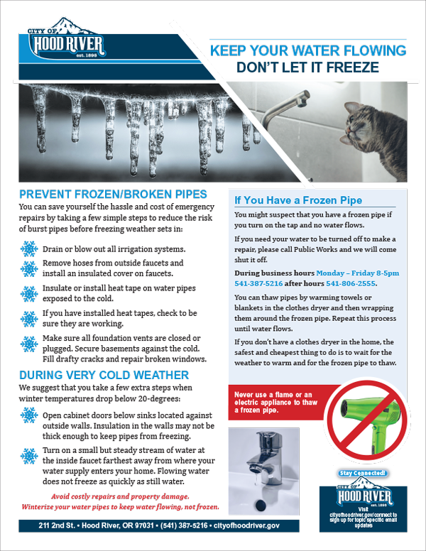 Keep pipes from freezing